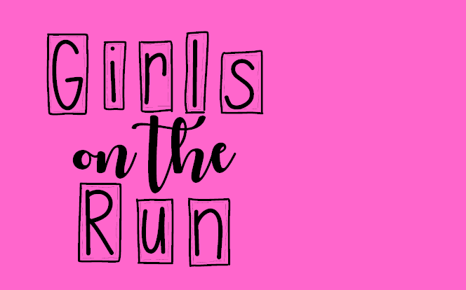 "text saying ""Girls on the run"""