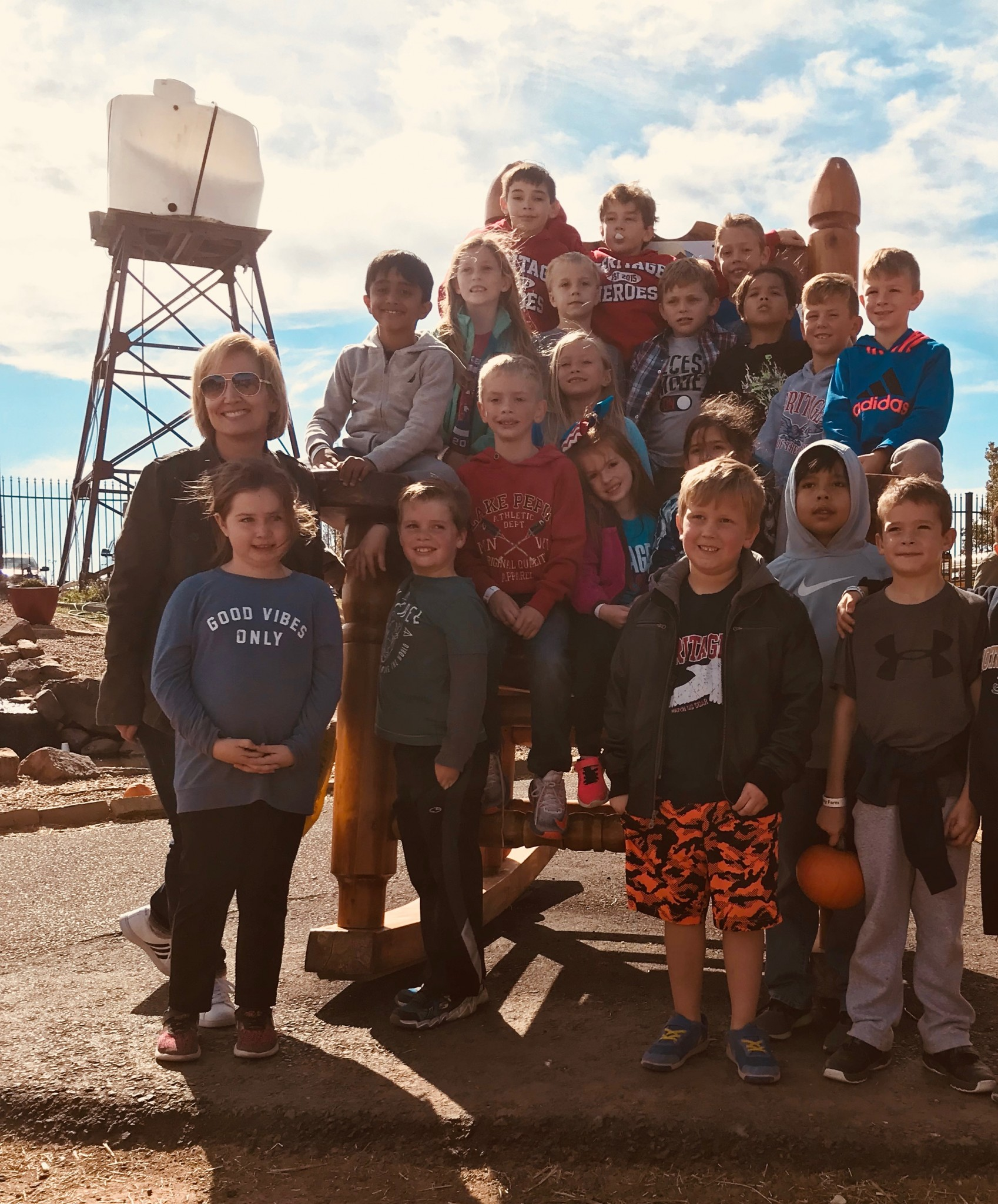 Second Grade Students on Field Trip