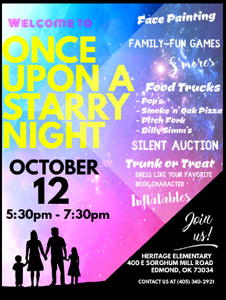 Once upon a starry night flyer