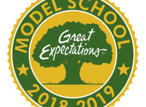 great expectations model school logo for 2018-2019
